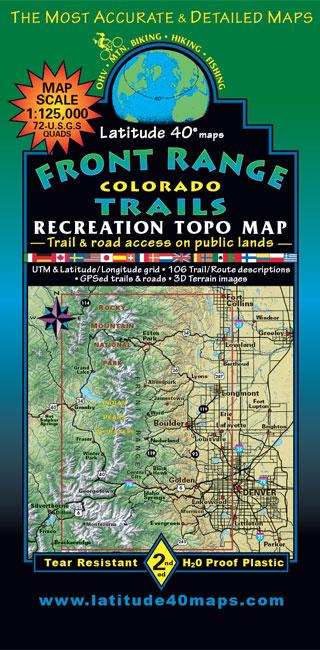Front Range Colorado Trail Map