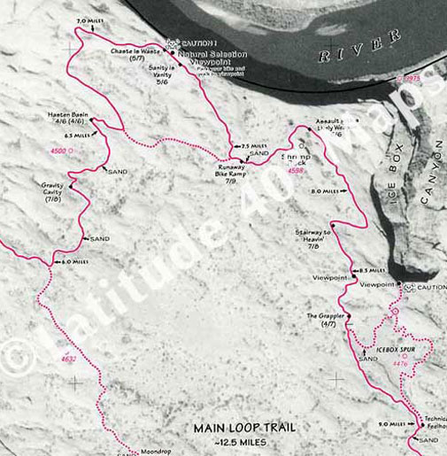 Slickrock Trail main loop map