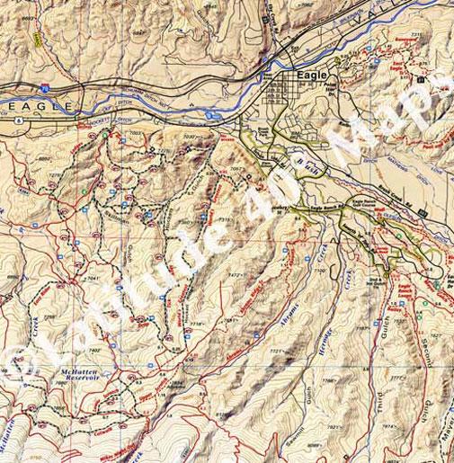 Eagle Colorado trail map