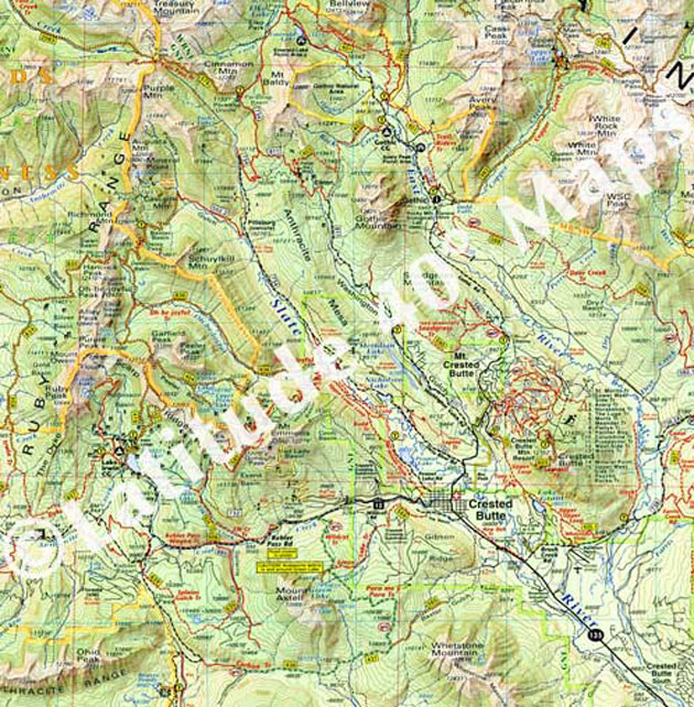 Crested Butte Area Trail Map