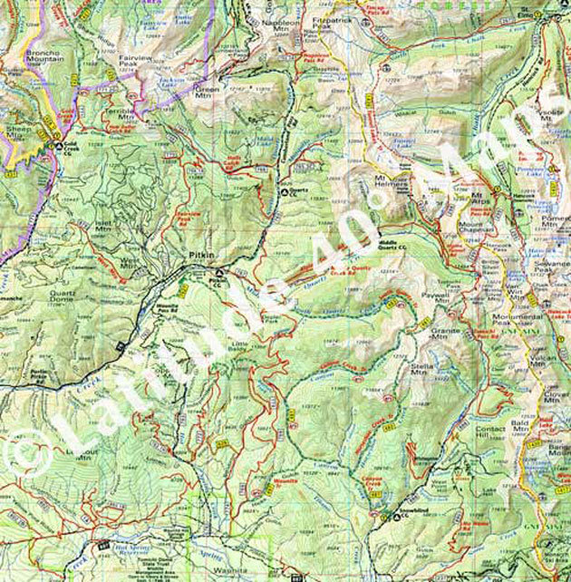 Pitkin Colorado trail map