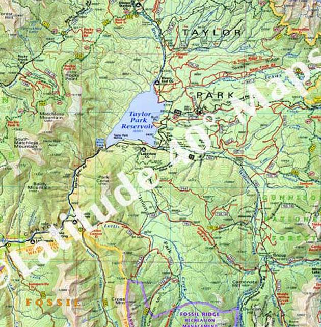 Taylor Park topo map