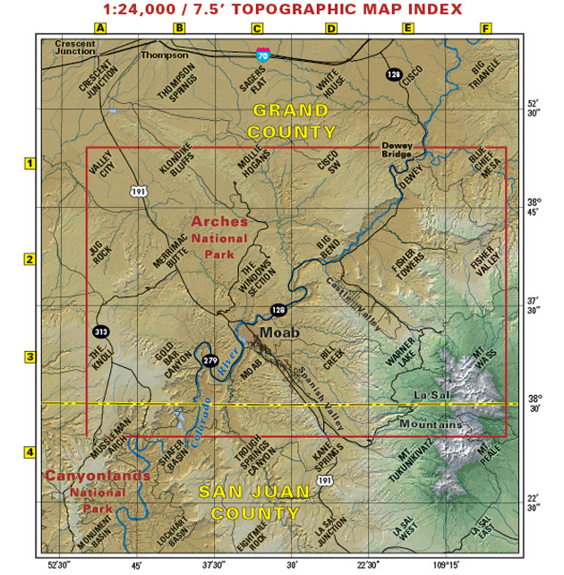 Moab single track map