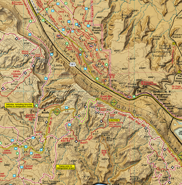 Magnificent Seven 7 trail map