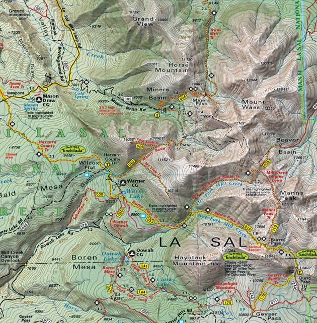 The Whole Enchilada trail map moab