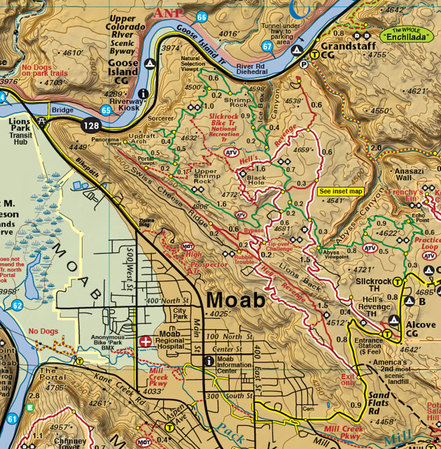 Moab slickrock trail map