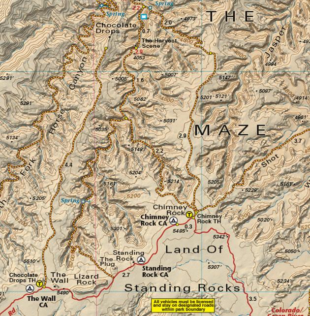 canyonlands national park maze district map