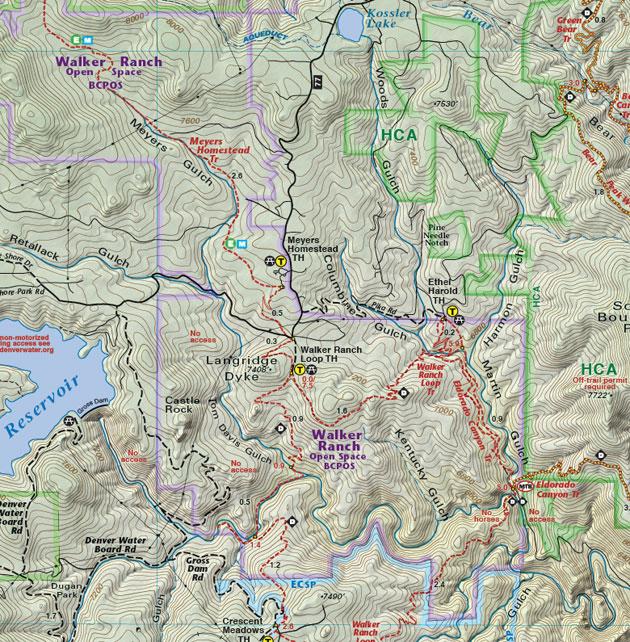 Walker Ranch trail map