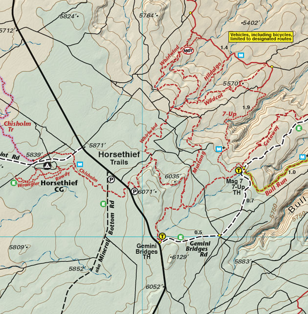 horsethief trail map moab utah