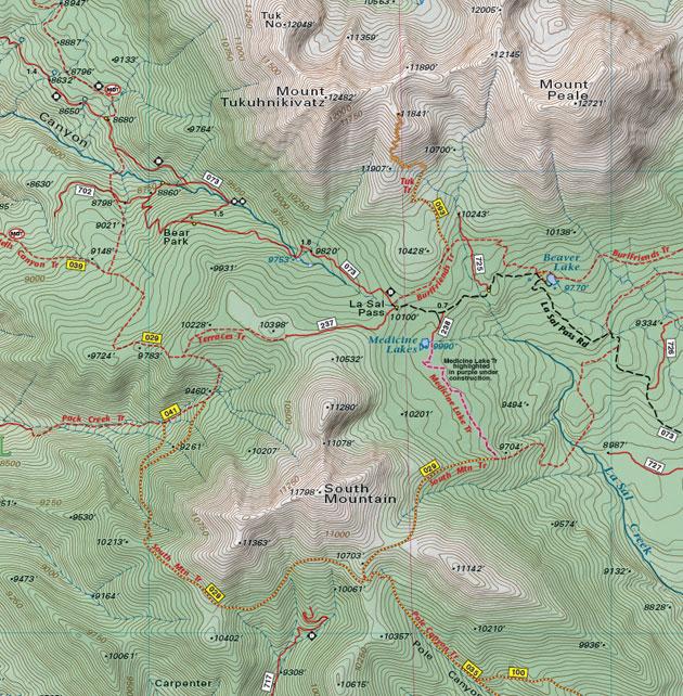 la sal pass map moab utah