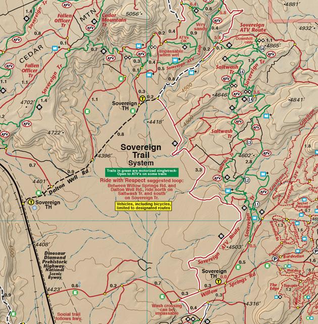 Moab Sovereign Trail system Utah