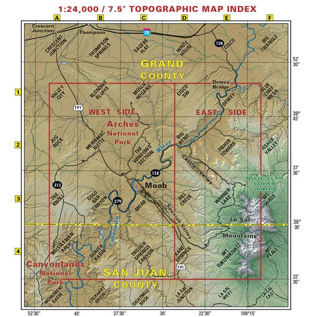 Moab area trails