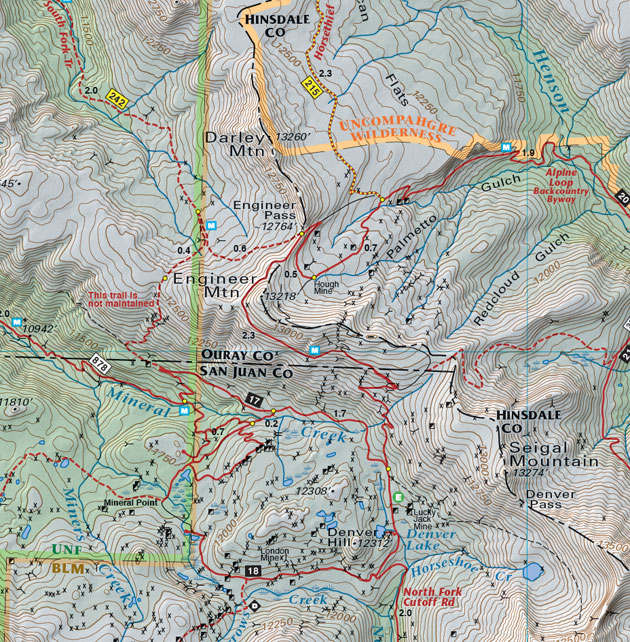 engineer pass trail road map