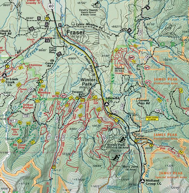 Winter Park recreation trail map