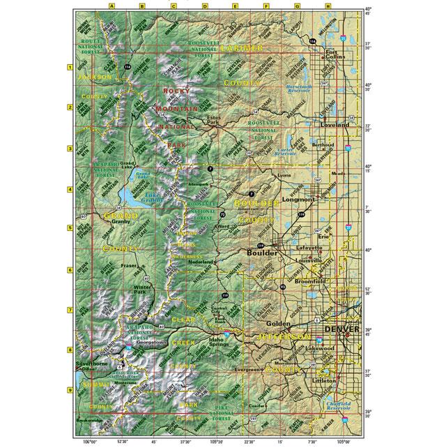 Colorado Front Range trail map