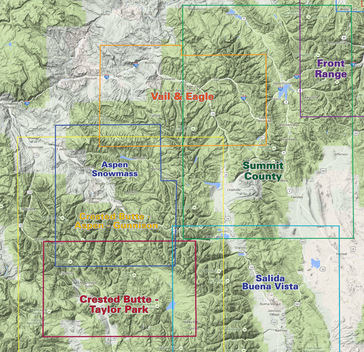 Vail Eagle Trails Colorado Recreation Topo Map Latitude Maps - Colorado maps