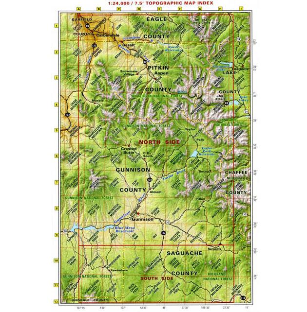 crested butte aspen gunnison recreation map