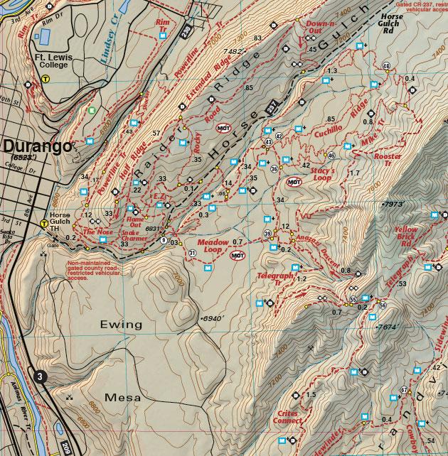 horse gulch durango map
