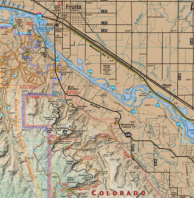fruita colorado recreation map