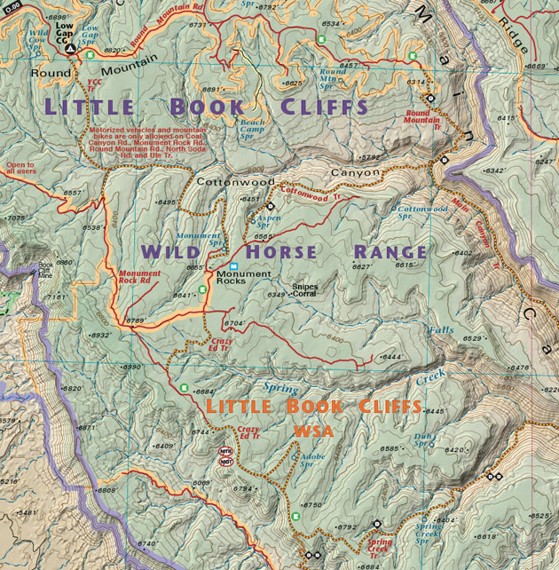 little book cliffs area map