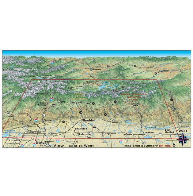 front range colorado trail dirt road map