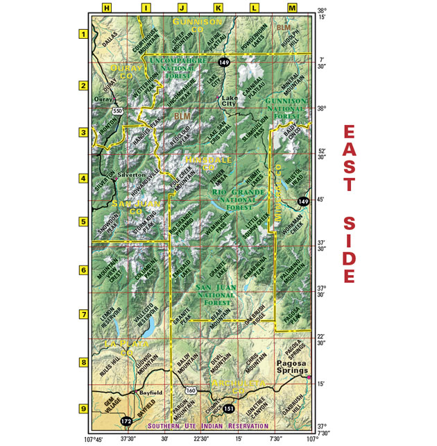 southwest colorado recreation map