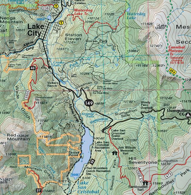Lake City Colorado Map