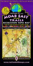 Moab Utah trail map