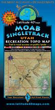 Moab area single track map