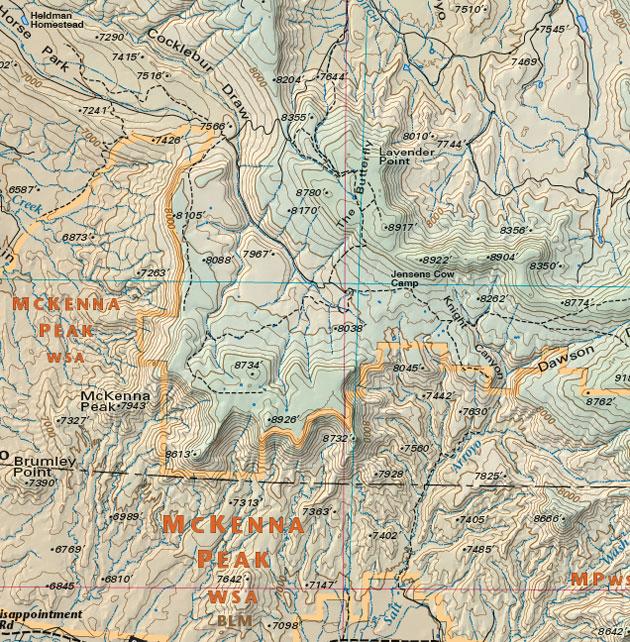 McKenna Peak trail road four wheel map