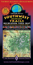 Southwestern Colorado trail recreation bike jeep map