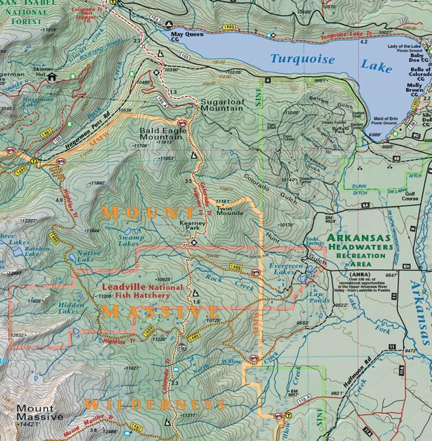 Mt. Massive recreation map