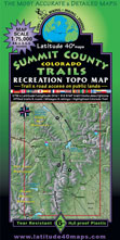 Summit County Colorado trail jeep bike hike map