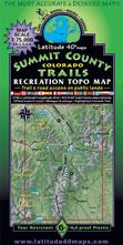 Summit County Colorado trail jeep bike hike map