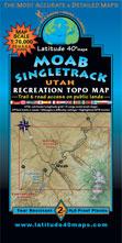 Moab Singletrack map