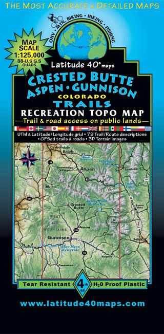 Crested Butte Aspen Gunnison Trails Latitude 40 Maps
