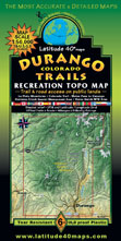 Durango Colorado area recreation map