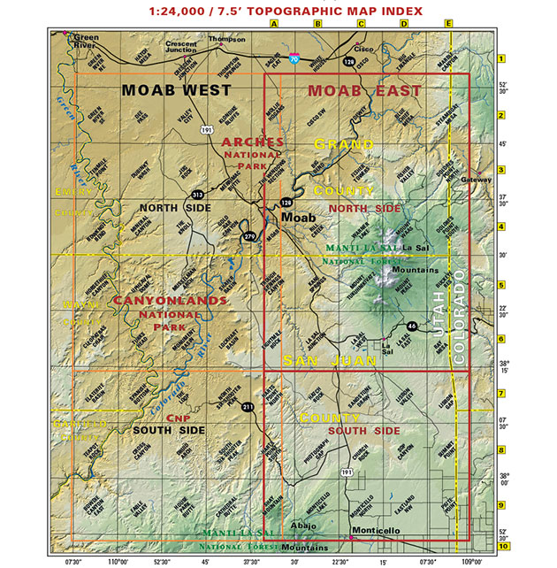 moab recreation trail map
