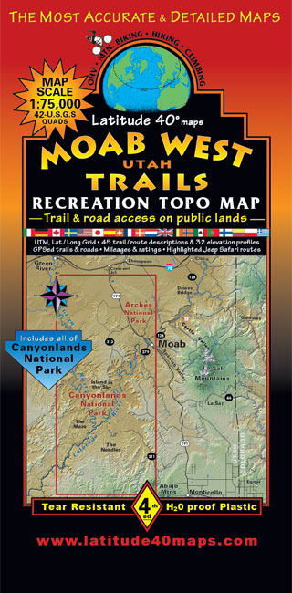 Loss Of Use Coverage >> Moab West Trails   Utah Recreation Topo Map   Latitude 40 ...