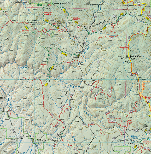 steamboat whiskey creek trails topo map