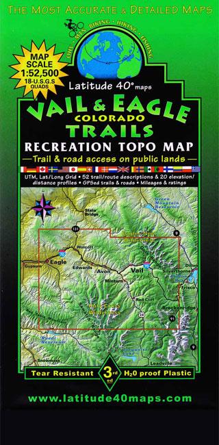 Vail Amp Eagle Trails Colorado Recreation Topo Map