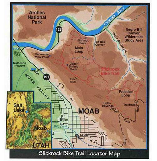 Slickrock - Moab trail map