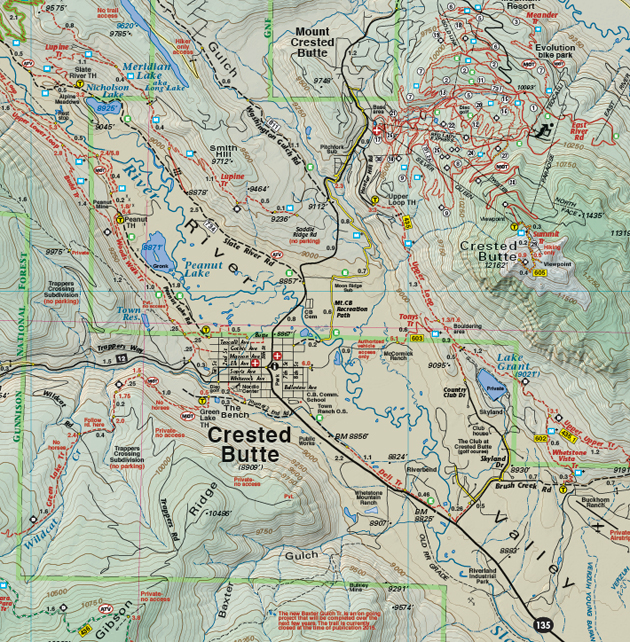 Crested Butte topographic map