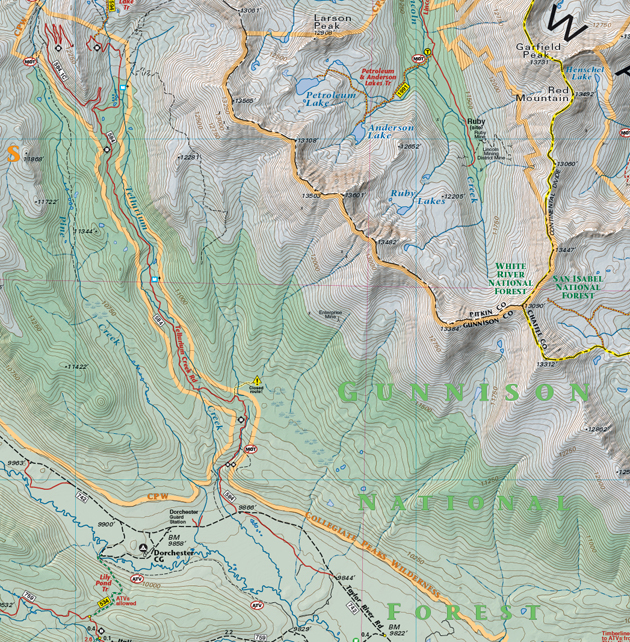 Tellurioum Trail map