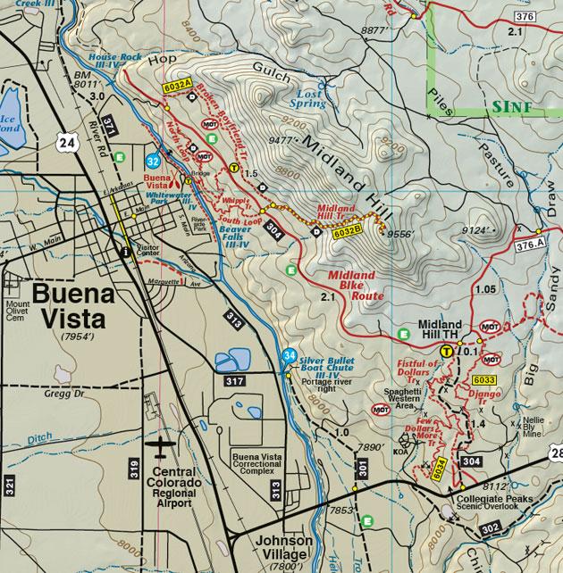 Buena Vista Colorado topo map
