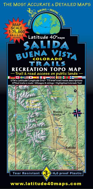 Salida Buena Vista recreation trail topo map