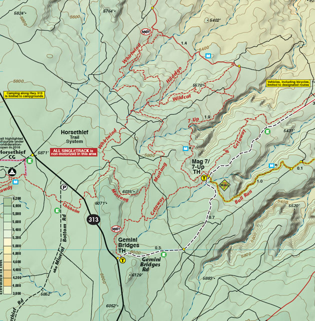 Horsethief trail map moab utah