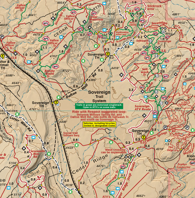 moab sovereign trail system map