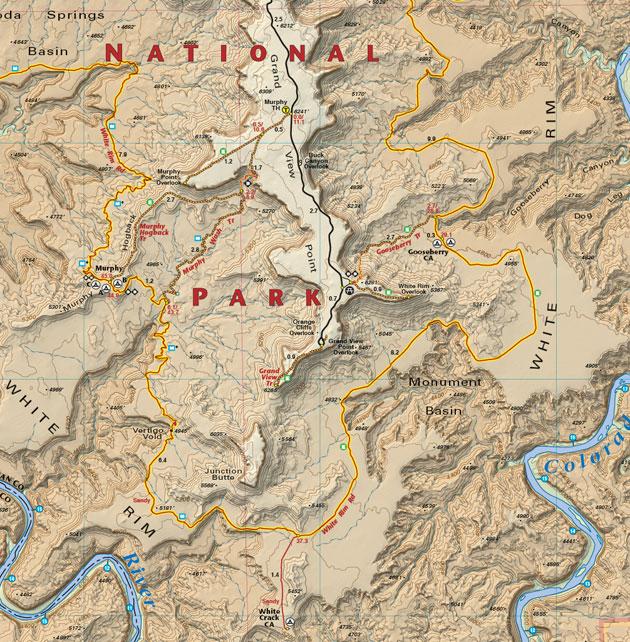 white rim trail map