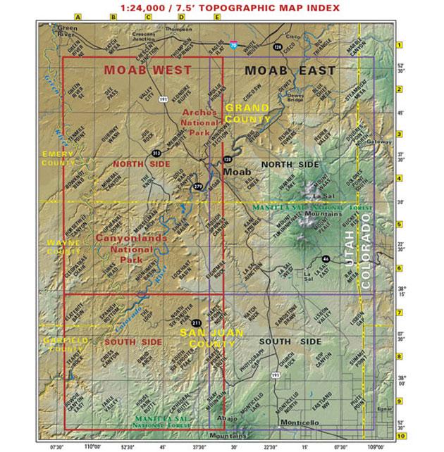 moab utah recreation map